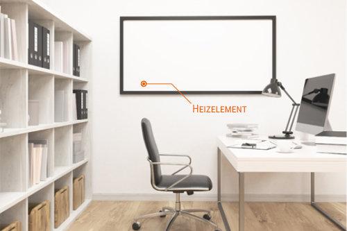 Die Alu-Komposit-Heizung ist auch fürs Büro eine ideale Lösung