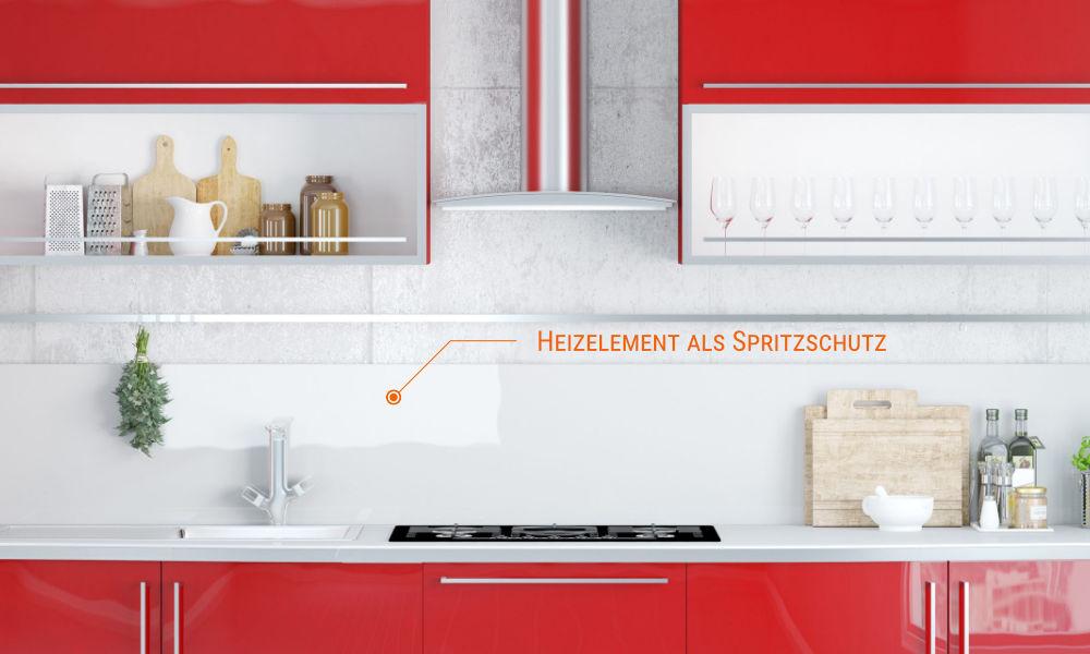 Die Photonenheizung Sonderanfertigung, z. B. für die Küche